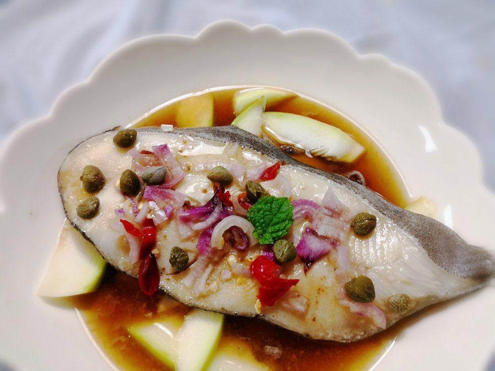酸豆蒸扁鱈