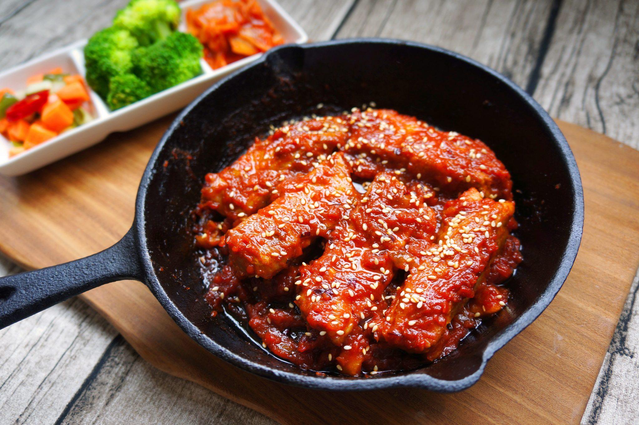 舒肥韓式辣醬燒肋排